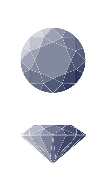 Round Diamond Shape Diagram