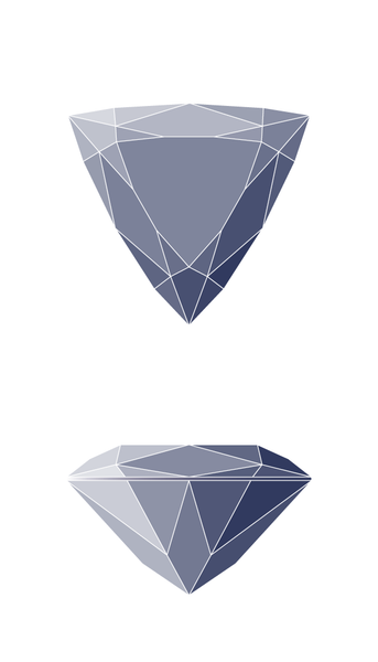 Trillion Diamond Shape Diagram