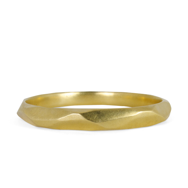 Yellow Bronze Faceted Denali Bangle by Corey Egan