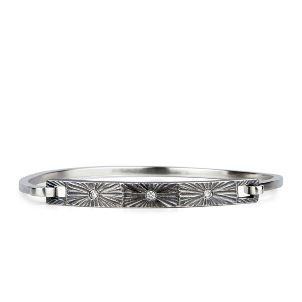 Nova Diamond Bracelet Oxidized Silver by Corey Egan