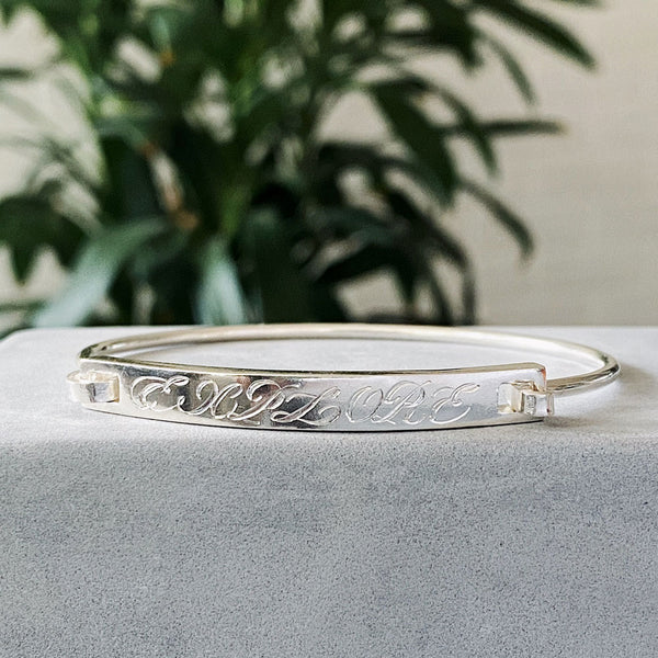 Blank Slate Bracelet with engraving - EXPLORE