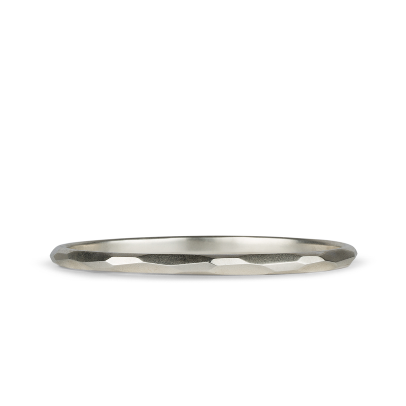 Thin Denali Faceted Bangle by Corey Egan