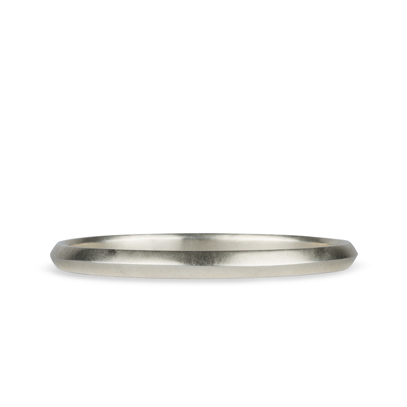 Aura silver bangle by Corey Egan