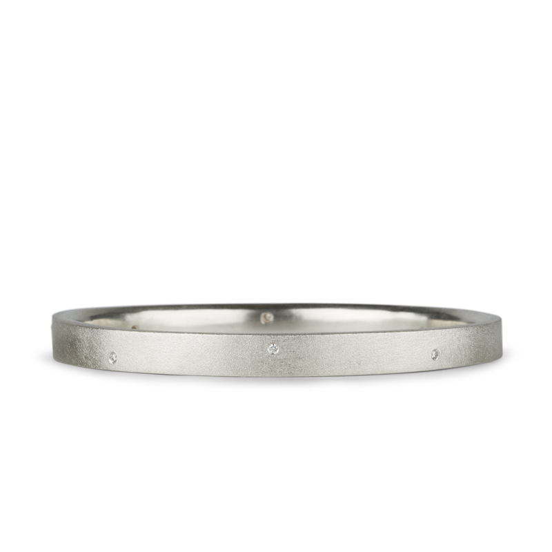 Tioga 8-Diamond Bangle by Corey Egan