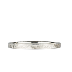 Lumens Silver and Diamond Bangle by Corey Egan
