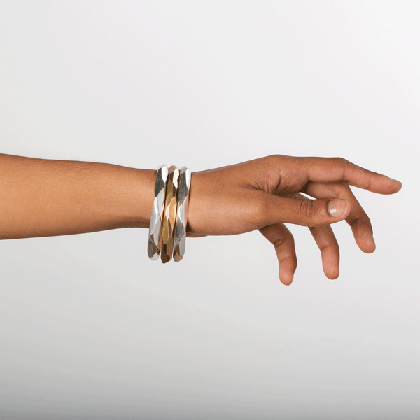 Faceted Denali Bangles by Corey Egan