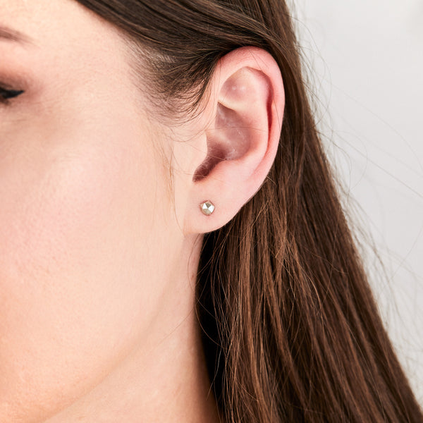 Silver Micro Fragment Stud Earrings by Corey Egan