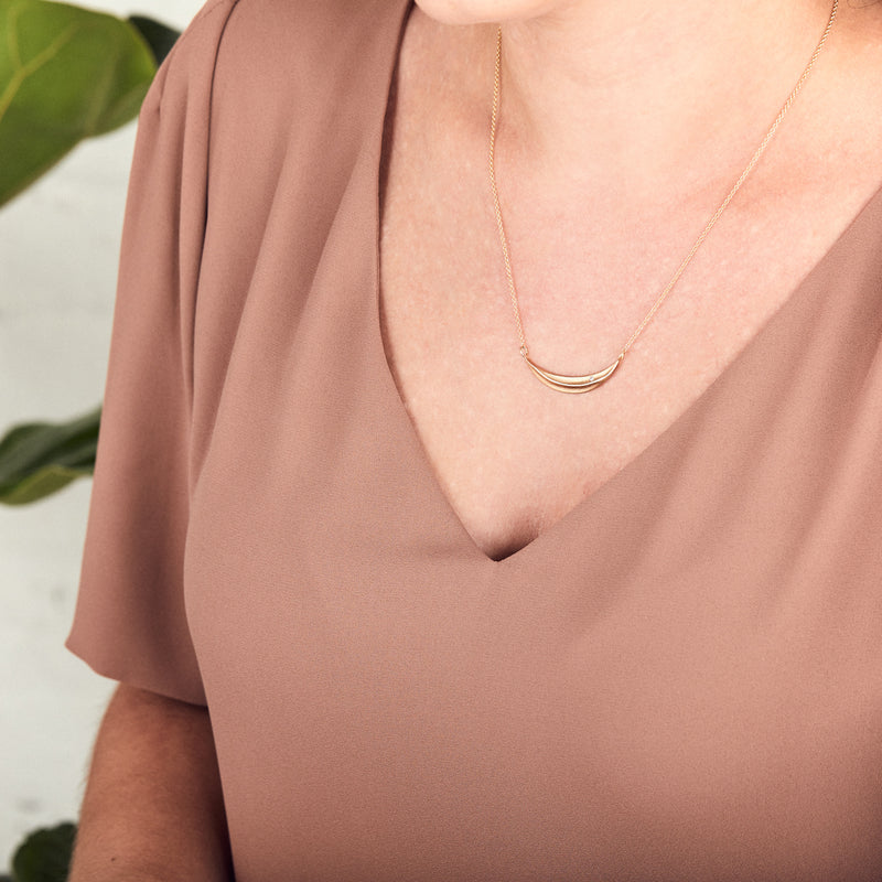 Gold and Diamond Wisp Necklace by Corey Egan