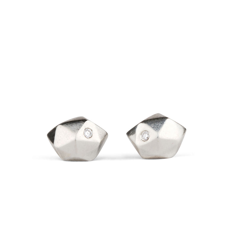 Tiny Fragment Diamond Stud Earrings