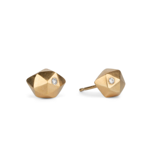 Tiny Fragment Diamond Studs in Vermeil | Corey Egan