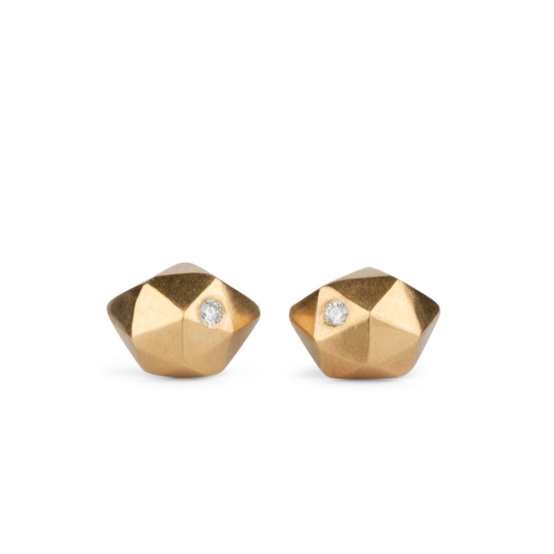 Vermeil Tiny Fragment Diamond Stud Earrings