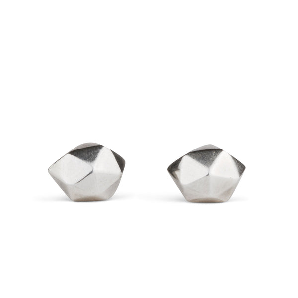 Silver Tiny Fragment Stud Earrings by Corey Egan