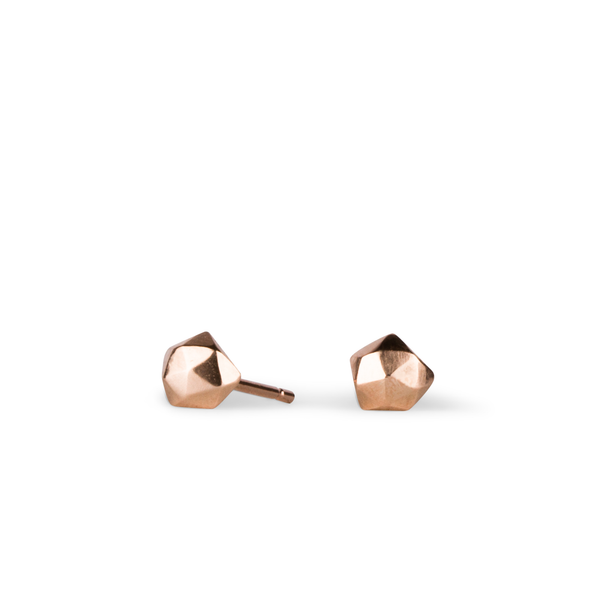 Rose Gold Micro Fragment Stud Earrings by Corey Egan