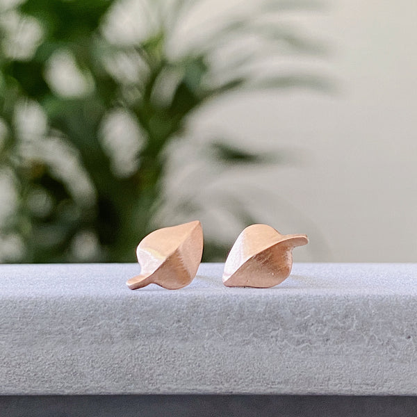 Rose Gold Aspen Stud Earrings by Corey Egan