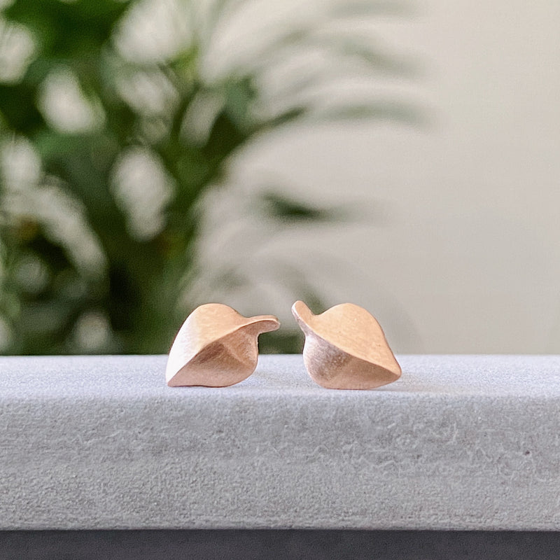 Rose Gold Aspen Stud Earrings