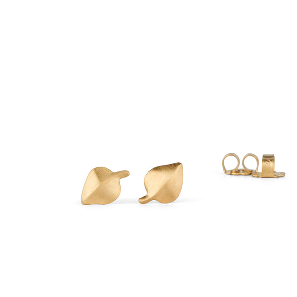 Aspen Leaf Vermeil Stud Earrings