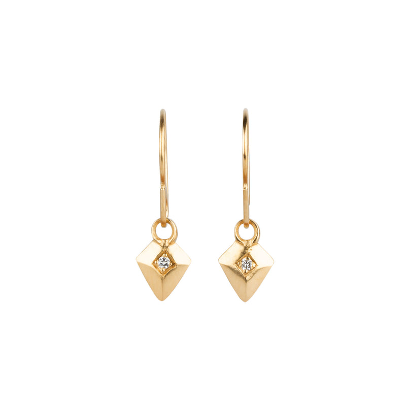 Deco Diamond Arrow Vermeil Earrings by Corey Egan