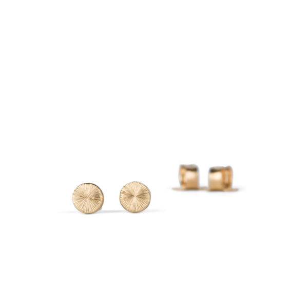 Gold Rise Stud Earrings by Corey Egan
