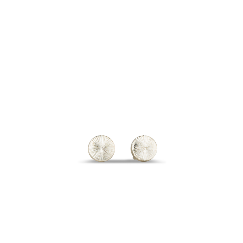 Silver Rise Stud Earrings by Corey Egan