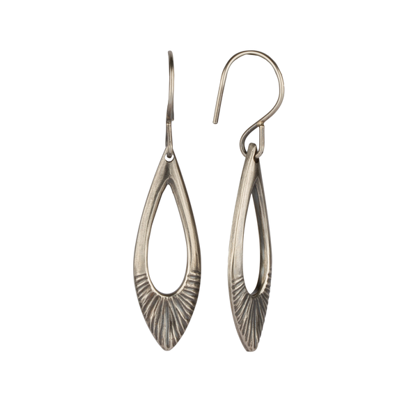 Oxidized Silver Flux Earrings by Corey Egan