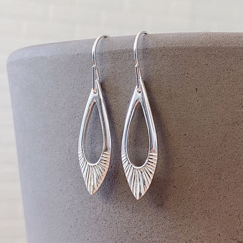 Silver Flux Earrings