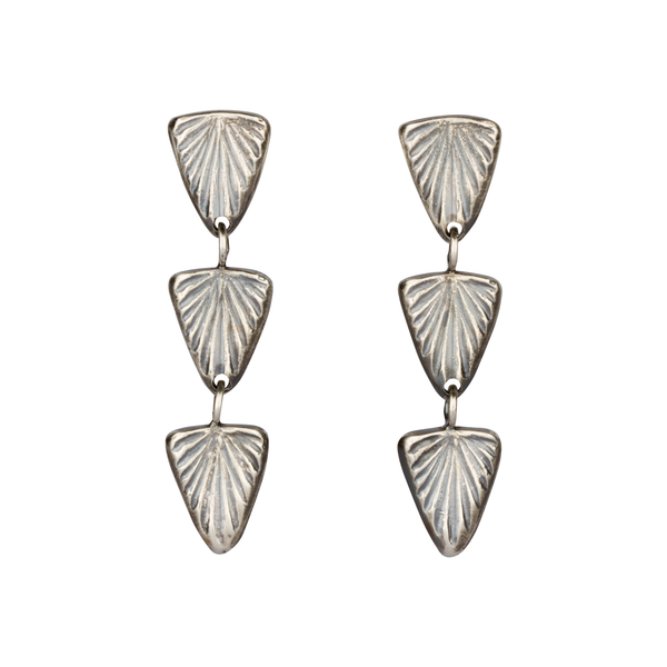 Oxidized Silver Flicker Earrings by Corey Egan