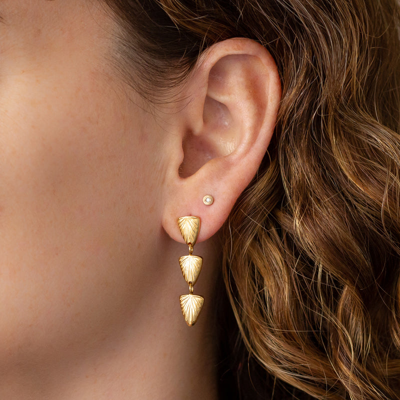 Flicker Vermeil Earrings by Corey Egan