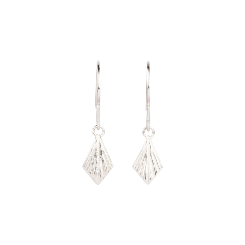Silver Flame Dangle Earrings by Corey Egan