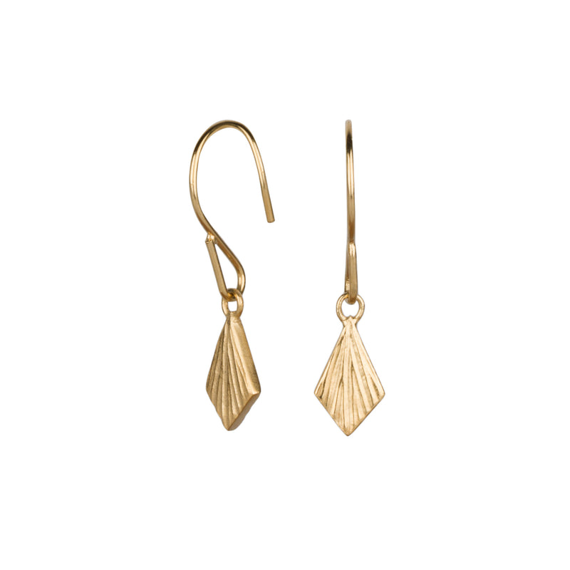 Flame Vermeil Dangle Earrings by Corey Egan