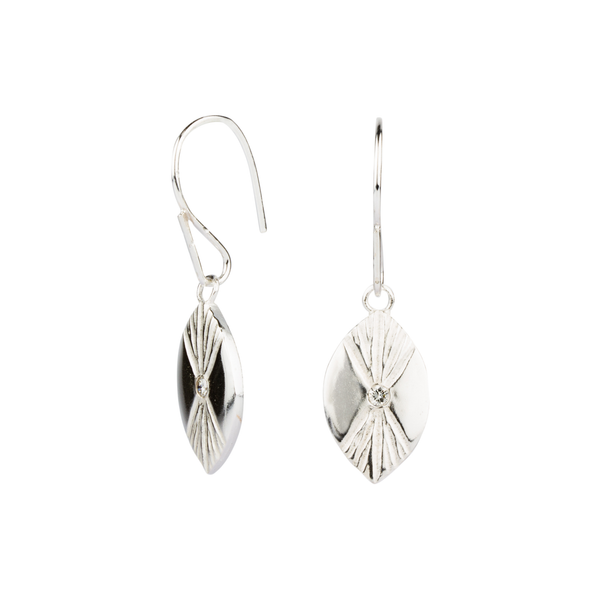 Silver Lumens Eye Dangle Earrings by Corey Egan