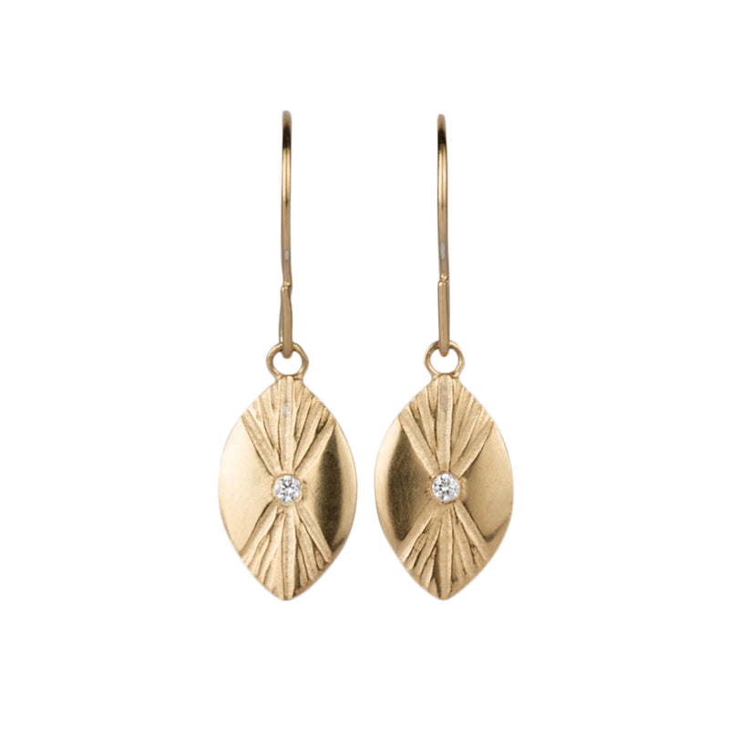 Vermeil Lumens Eye Dangle Earrings by Corey Egan