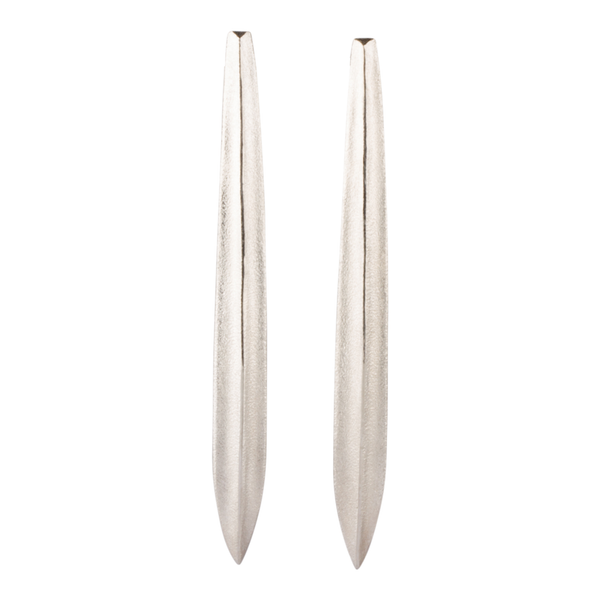 Scribe Silver Earrings by Corey Egan