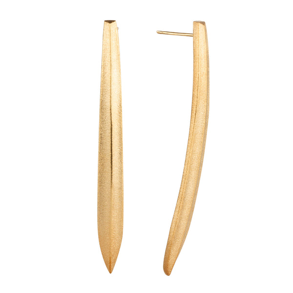 Scribe Vermeil Earrings by Corey Egan