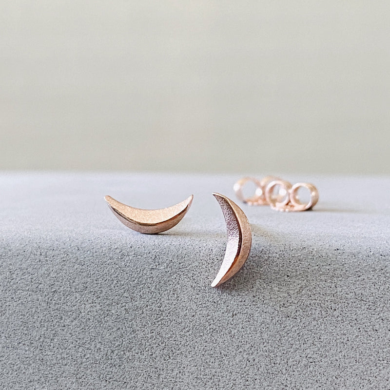 Wisp Rose Gold Studs