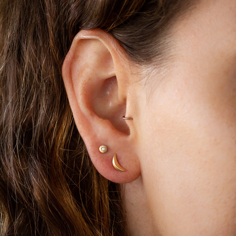 Wisp Vermeil Stud Earrings by Corey Egan