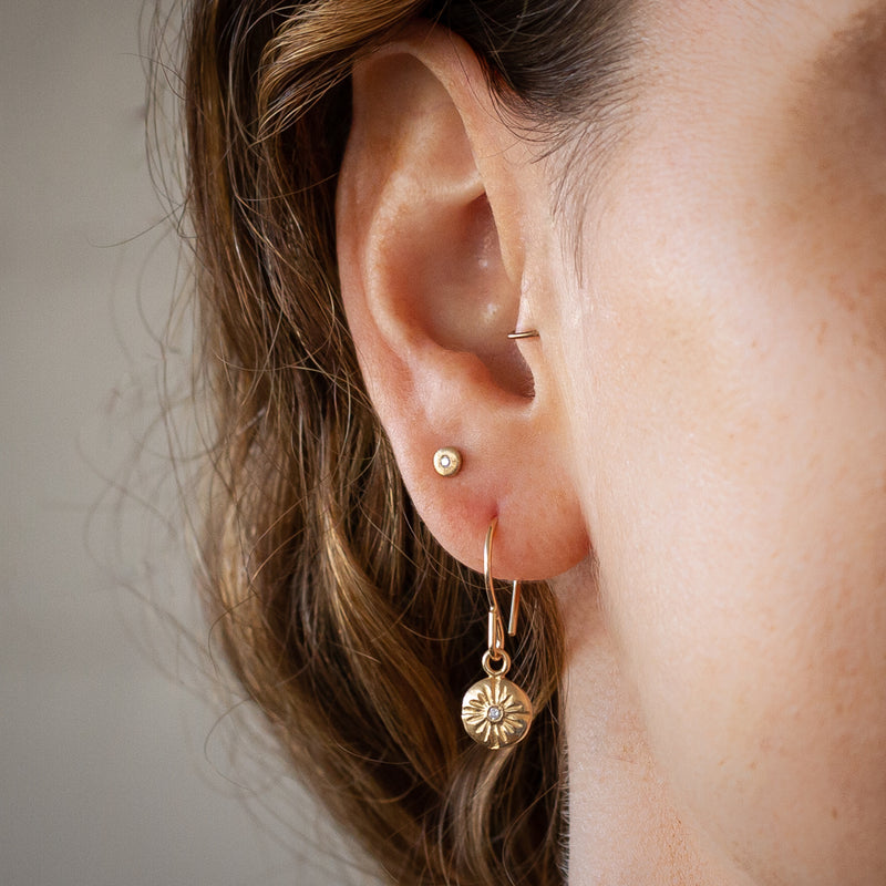 Gold and Diamond Small Lucia Dangle Earrings | Corey Egan