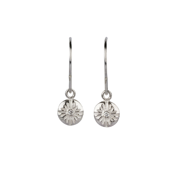 Corona Small Dangle Earrings in Silver | Corey Egan