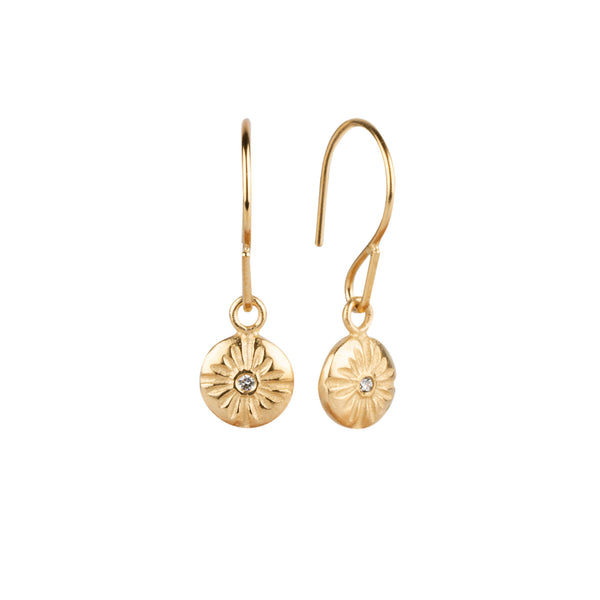 Small Corona Dangle Earrings in Vermeil  by Corey Egan