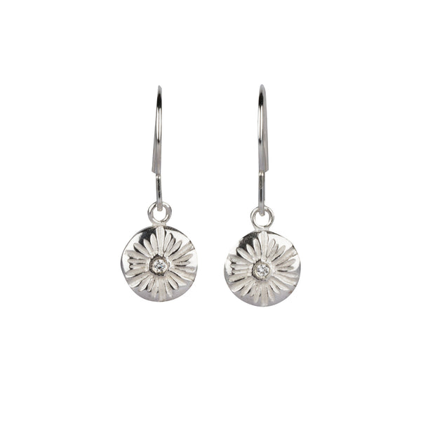 Lucia Medium Dangle Earrings in Silver | Corey Egan