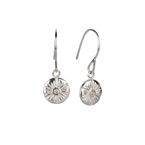 Corona Medium Dangle Earrings in Silver | Corey Egan