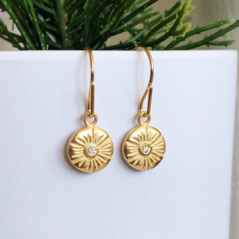 Lucia Medium Dangle Earrings in Vermeil | Corey Egan
