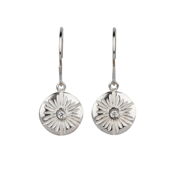 Corona Large Dangle Earrings in Silver | Corey Egan
