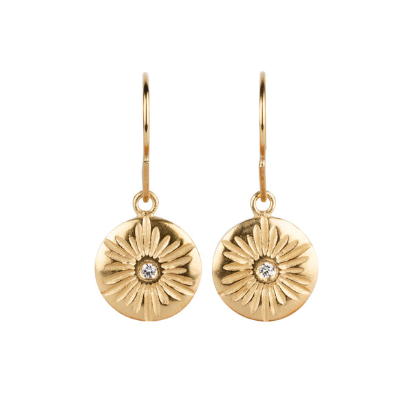 Corona Large Dangle Earrings in Vermeil | Corey Egan