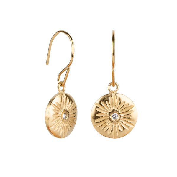 Lucia Large Dangle Earrings in Vermeil | Corey Egan