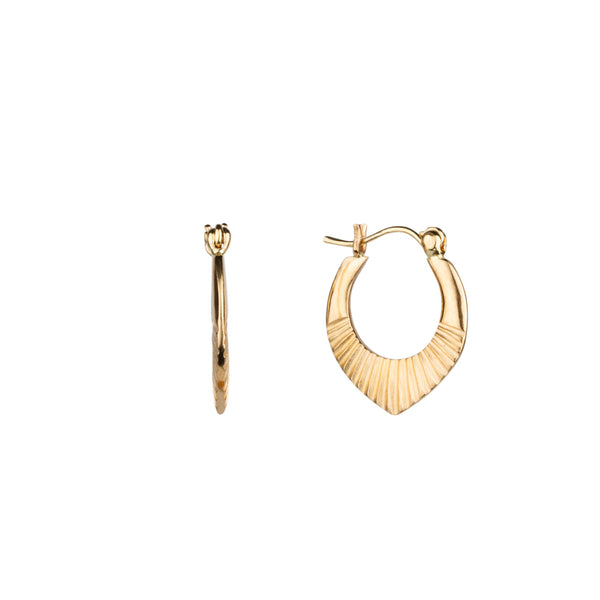 Gold Small Helios Hoops