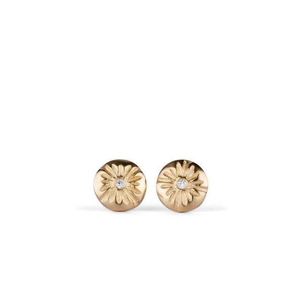 Small Corona Gold Stud Earrings by Corey Egan