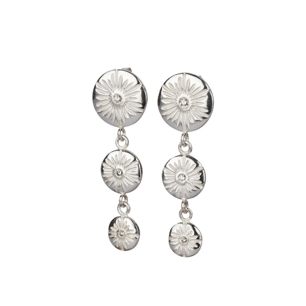Corona Triple Drop Earrings