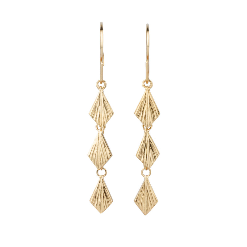 Flame Cascading Vermeil Dangle Earrings by Corey Egan