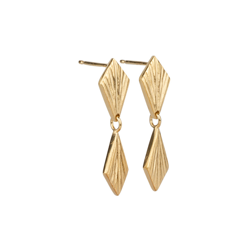Double Flame Vermeil Dangle Earrings | Corey Egan