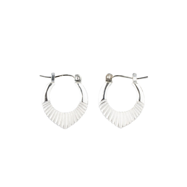 Silver Small Helios Hoops by Corey Egan